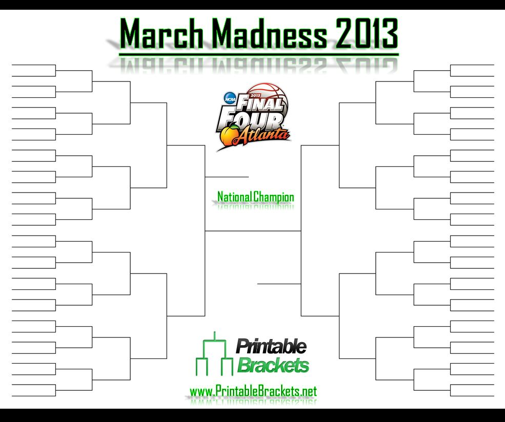 March Madness 2013 | March Madness 2013 Tournament » Printable ...