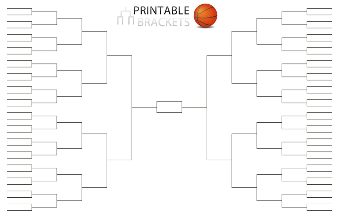 Printable 4 team bracket single elimination tournament for Knockout draw sheet template