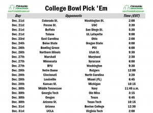 College Football Bowl Pick Em | Bowl Pick Em Sheet » Printable ...